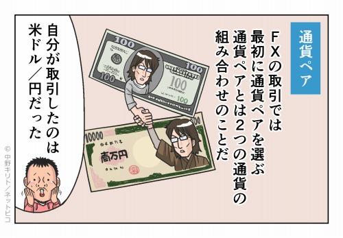 通貨ペア FXの取引では最初に通貨ペアを選ぶ通貨ペアとは2つの通貨の組み合わせのことだ