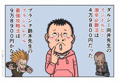 ダルシー向井先生のインドルピー激辛必勝法は49,800円だった
