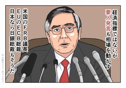 経済指標ではないが要人発言も相場を動かす 米国のFRB議長EUのECB総裁日本なら日銀総裁もそうだ
