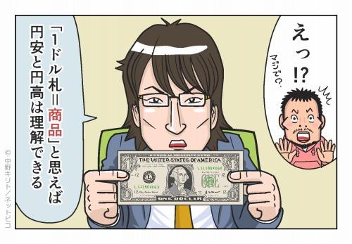 えっ? 「1ドル札=商品」と思えば 円安と円高は理解できる