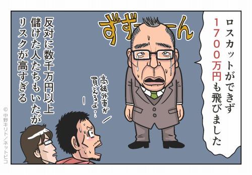 ロスカットができず1700万円も飛びました