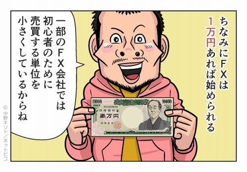 ちなみにFXは1万円あれば始められる