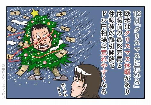 12月「クリスマスに荒れる」