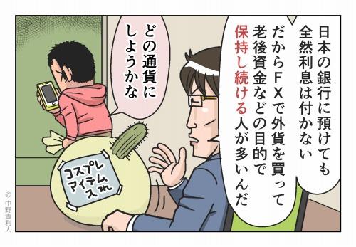 日本の銀行に預けても全然利息は付かな