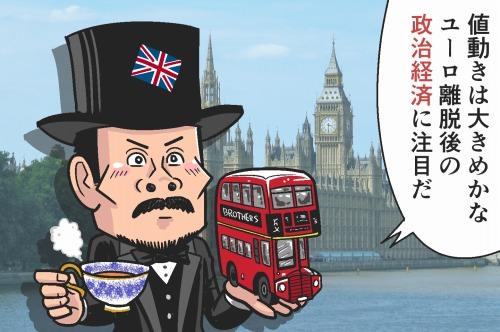 英ポンド(GBP)- 1日の変動幅が大きめ!ユーロ離脱後の政治経済に注目