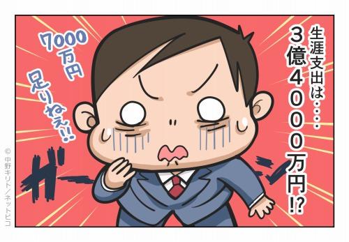 生涯支出は‥‥3億4,000万円!?