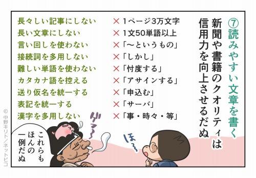 ⑦読みやすい文章を書く