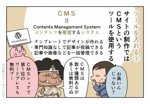 ツールを入れる①サイトの制作ではCMSというツールを使用する