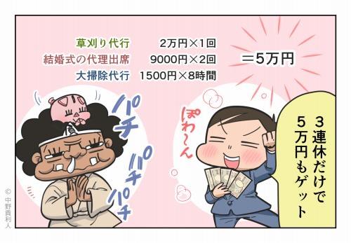 3連休だけで5万円もゲット