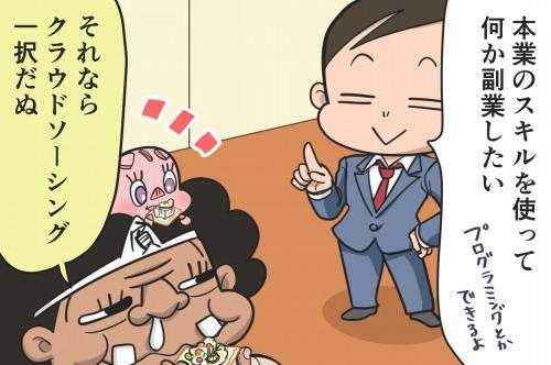 【漫画】第38話「クラウドソーシングで副業!初心者が稼ぐコツ」