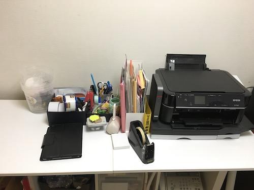 作業台の上の道具