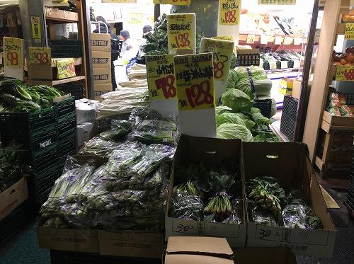 野菜の値段が安い