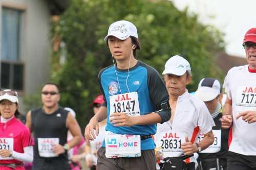 マラソン大会の撮影