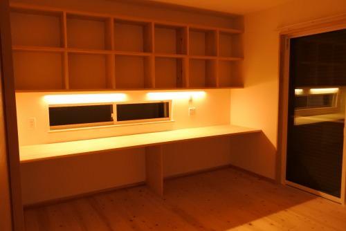 自宅の寝室兼書斎
