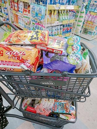 毎月、食品や日用品をウェルシアでまとめ買い