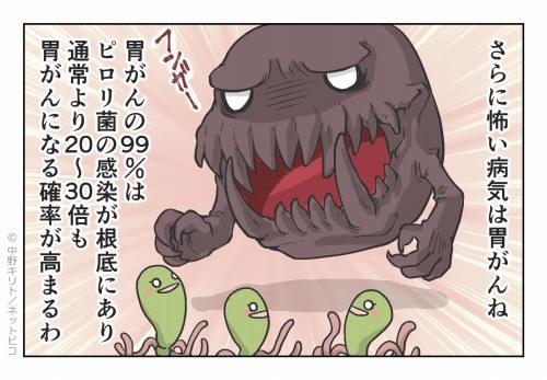 さらに怖い病気は胃がんね