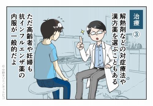 治療③ 解熱剤などの対症療法や漢方薬を選ぶこともある