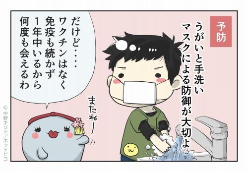 予防 うがいと手洗い マスクによる防御が大切よ