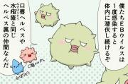 【漫画】EBウイルスで全身がむくむ伝染性単核症になる